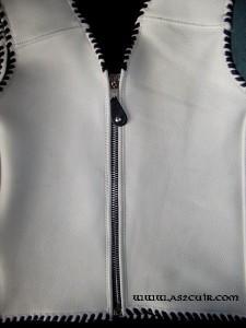 Gilet blanc fermeture éclair Ref VGG004