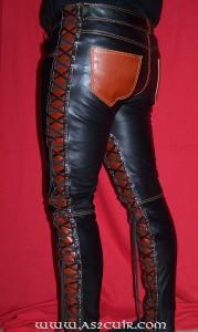 Pantalon cuir Lacets intérieurs Ref VPC044