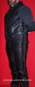 Pantalon cuir double lacets Ref VPC083
