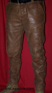 Pantalon cuir vieilli Pattes d'Ours Ref VPC055