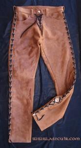 Pantalon cuir vieilli Ref VPC019
