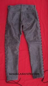 Pantalon cuir vieilli gris Ref VPC066