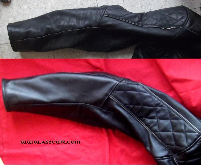 Restaurer veste cuir noir