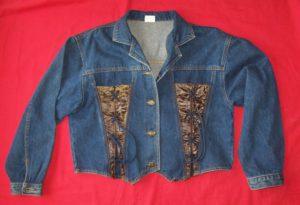 Veste en jean courte taille L (1)