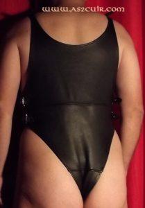 Body Homme cuir noir Ref ASJ1039