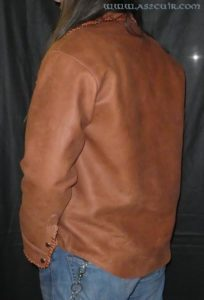 Chemise cuir vieilli Ref VCC035
