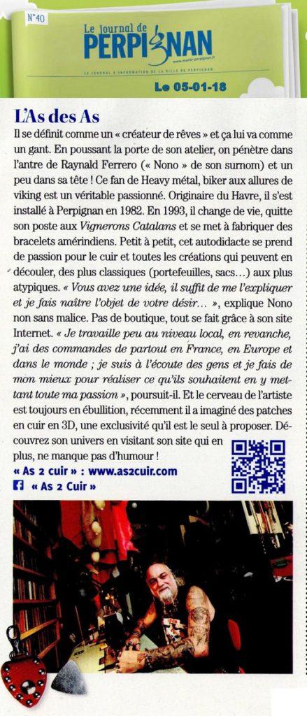 Le journal de Perpignan, le 05 01 18