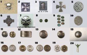 Motifs Bikers, Boucliers, Celtique, tête de Mort 2